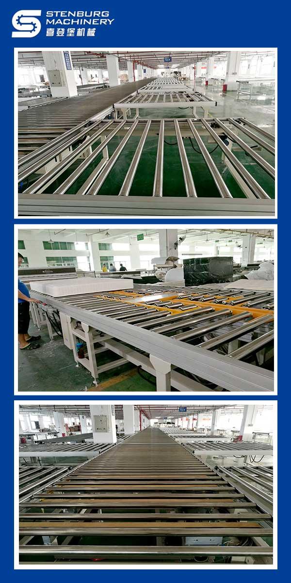 Automatic mattress production line