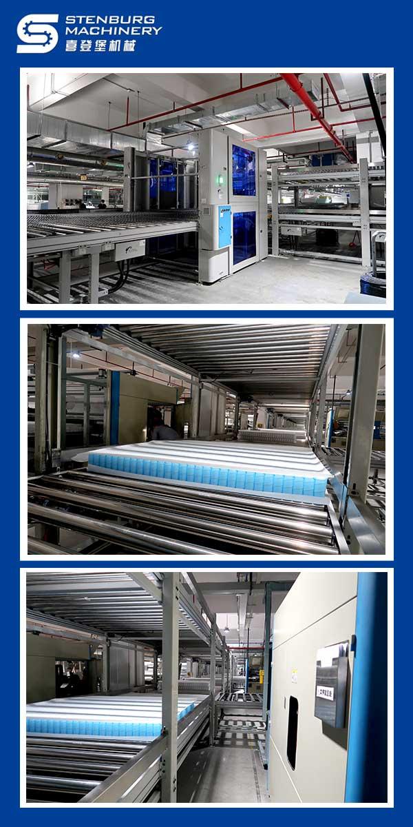Complete mattress production line design plan 3
